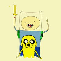 Finn and Jake by nicollearl