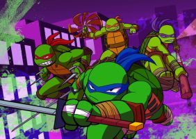TMNT GROUP by Brother-Tico