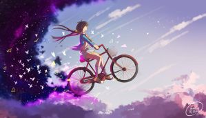 cycling in the clouds by mano-k