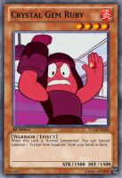 Ruby (Steven Universe) Yu-Gi-Oh! Card by LordR29