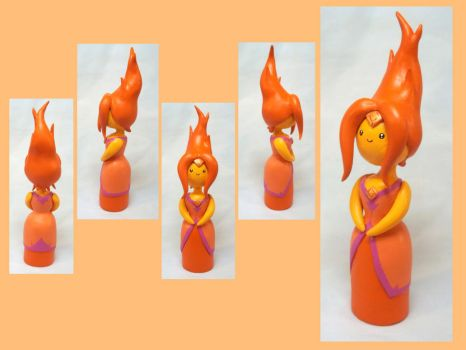 Flame Princess Sculpt by CadmiumCrab