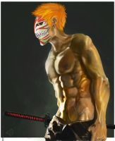 Hollow Mask Ichigo by ekoyagami