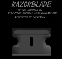 [MMD Accessory] Razorblade + DL by The-Horrible-Mu