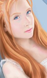 Female Face Study 02 by markuro