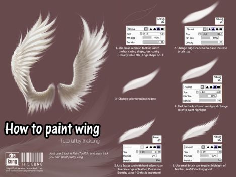 How to paint wing by fusionnuke