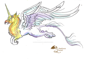 Unicorn Griffon Hippogriff Gryphon Griffin by StephanieSmall
