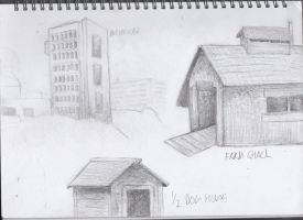Buildings doodles by ChromeFlames