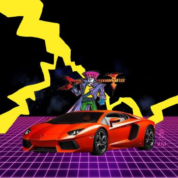 Thrash Hawk Thunder Axe! - Red Lambo by MrReese-Mysteries