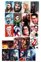 Sketch Cards I have done by FabianQuintero