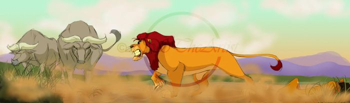 Mufasa vs Boma by AjSTheArtist