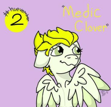 #huevember Day 2: Medic Clover by Rabies-the-Squirrel