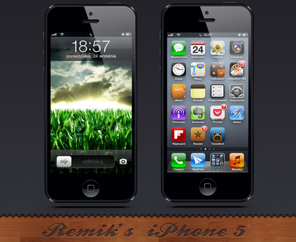 My first iPhone5 Screenshot by iRemik