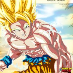 Golden Warrior: Son Goku Ssj2 by IITheDarkness94II