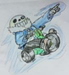 Trike Sans, Away! by MazdaTiger