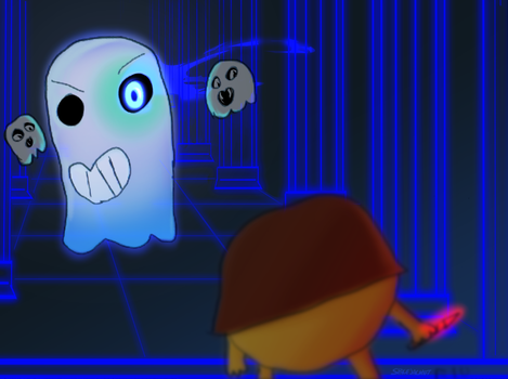 Undertale :: PAC-MAN :: Crossover (Collab) by SpaceJacket