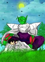 Piccolo x Gohan_Colored by Nei-Ning