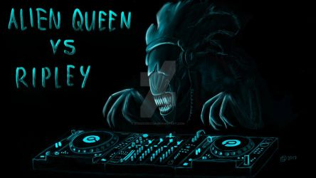 Alien Queen the DJ by stereoDecor