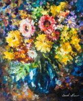 HOME FLOWERS by Leonid Afremov by Leonidafremov