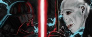 Darth Vader and Lord Voldemort by Enigma-Duke
