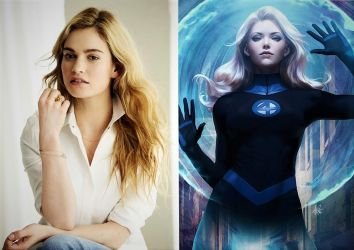 Lily James as The Invisible Woman by TristanHartup