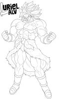 Broly LineART by UrielALV