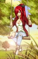 erza Scarlet  -  Free afternoon by esteban-93