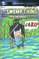 Adventure Time Swamp Thing Front Cover by johnnyism