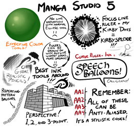 Manga Studio 5 Brushes by TheInkyWay