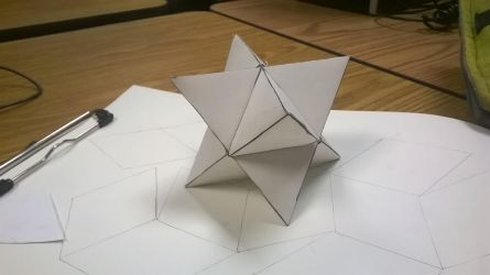 Origami Stellated Octahedron by Zacx15