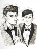 Dan and Phil portrait by RavenDANIELS