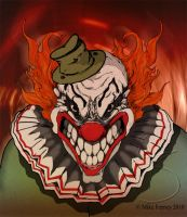 Creepy Evil Clown by MikeFeeney