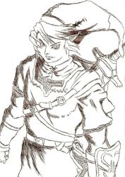 Link Pen Sketch by MythicalGrim