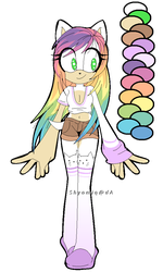 Rainbow Hedgie Adoptable SOLD by Shyamiq