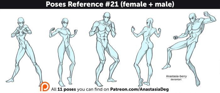 Poses Reference #21 (female + male) by Anastasia-berry