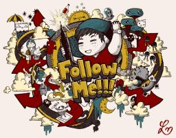 Follow Me Colored Version by LeiMelendres