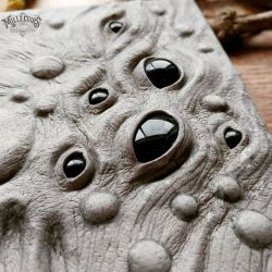 close up of the eyes ans blisters by MilleCuirs