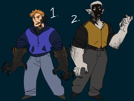 Werewolf adopts by Vitope