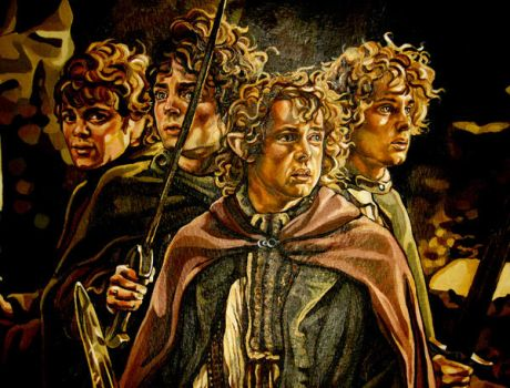 Hobbits at Weathertop by fresco-child