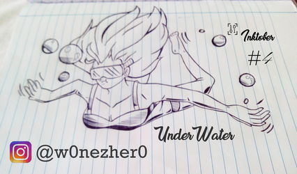 inktober number 4 UnderWater by Bonezkd