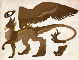 Golden Eagle Griffon Adopt (CLOSED) by theperfecta