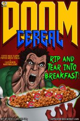 DOOM Cereal Box Cover (Alternate) by NathanMD