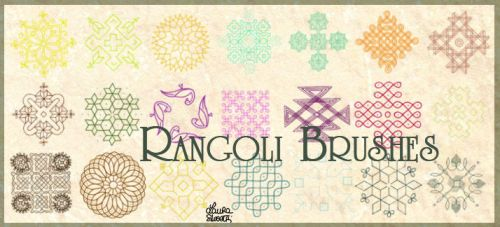 Rangoli brushes by lotus82