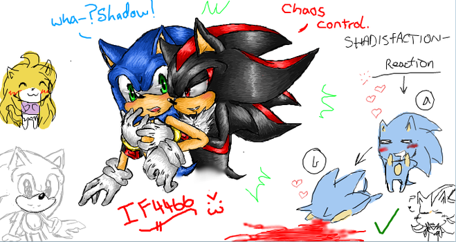 iScribble - Sonadow Request (Smaly) by BlueNeedle-Inu