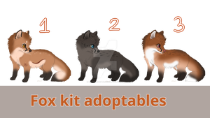 OPEN-Fox kit adoptables by Katez-Adopts