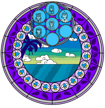 WKH: Wing's Stain Glass (Version 1) by angelthewingedcat