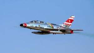 North American F-100F Super Sabre by arejaye