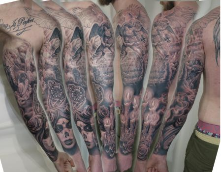 Light and Dark sleeve by viptattoo
