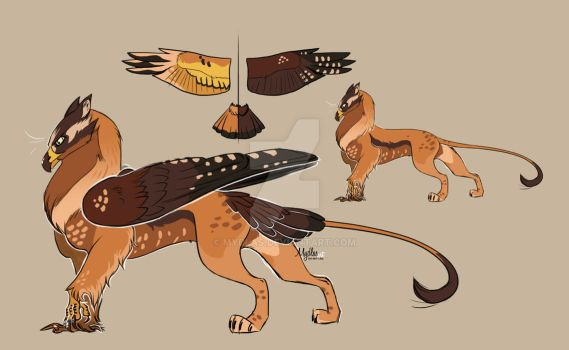 Hawk Gryphon adoptable (sold) $15 by mydlas