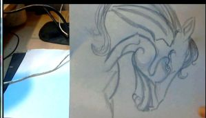 scribbling - unreal horse by AnnarXy