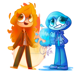 |FA/GIFT| Fire and Water by GalaxyPixies45